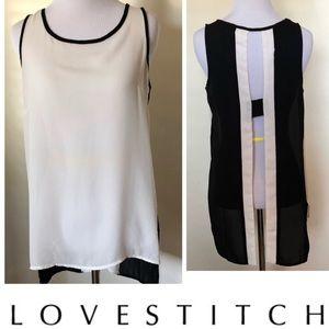 Love stitch sleeveless blouse